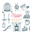 danish lifestyle concept- hygge hand drawn vector image