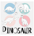 dinosaurs in four different types vector image vector image
