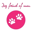 Dog paw icon of dog vector image vector image