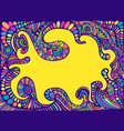 doodle fun cartoon colorful abstract patterns vector image vector image