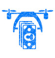 drone payment grunge icon vector image vector image