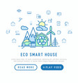 eco smart house in mountains with wind generator vector image vector image
