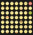 emoticon set collection emoji 3d emoticons vector image