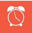 flat clock vector image