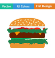 Flat design icon of Hamburger vector image