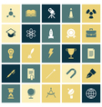 Flat design icons for education and science vector image vector image