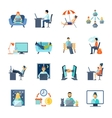 Freelance Icons Set vector image vector image