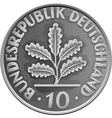 german money silver coin vector image vector image