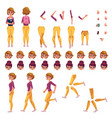 girl college or university student creation set vector image vector image