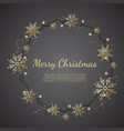 glowing christmas lights wreath for xmas holiday vector image