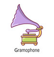 gramophone icon cartoon style vector image