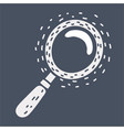 hand drawn magnifier doodle search icon vector image