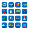 icons of transport vector image vector image