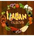 Italian Food Background vector image vector image