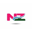 Letter n and z logo vector image vector image