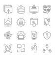 linear internet icons set universal internet icon vector image vector image