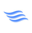 logo of the wave on white vector image