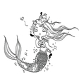 Lovely Mermaid for Coloring vector image vector image