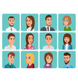 Men and women business and casual clothes icons vector image vector image