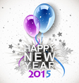 new year balloons 2015 vector image vector image