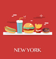 new york food vector image vector image