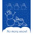 No more snow vector image vector image