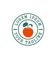 orange fruit stamp logo design concept template vector image vector image