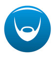 oval beard icon blue vector image vector image
