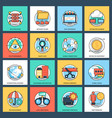 pack of business and data management flat vector image vector image