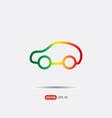 pictograph of car logo vector image vector image