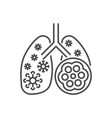 pneumonia related thin line icon vector image vector image
