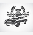 print with a stylish retro car vector image