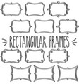 rectangular frame triple outline vector image vector image
