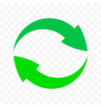recycling arrows circle icon eco waste bin sign vector image vector image