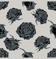 seamless pattern with hand drawn stylized roses vector image vector image