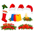 Set of christmas objects vector | Price: 3 Credits (USD $3)