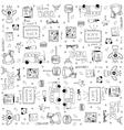 set of hand draw doodles school vector image vector image