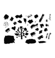 Set of ink drops grunge for your design vector image vector image