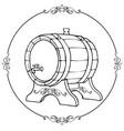 sketch of a wooden wine barrel vector image vector image