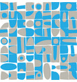 sloppy geometric shapes seamless pattern vector image