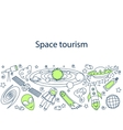 Space tourism banner vector image