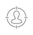 target audience outline icon vector image
