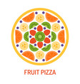 tasty fruit pizza vector image