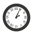 time clock roman numbers vector image vector image