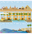 trip to egypt concept flat style design vector image vector image