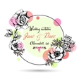 Vintage wedding invitation card with hand drawn vector image vector image