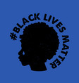 with text black lives vector image
