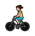 woman riding bike icon image vector image vector image
