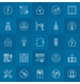 Electricity linear icons set vector image