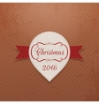 New Year or Christmas realistic white Sticker vector image